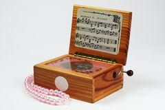 Music box and necklace Stock Images