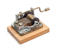 Music box. Obsolete music box isolated on white background Stock Image
