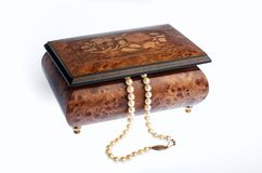 Music Box with Pearls Stock Image