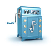 Music box - retro player Royalty Free Stock Image