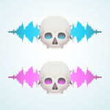 Music breaks the skull Stock Photography