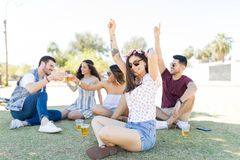 Music Brings People Together royalty free stock images