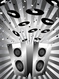 Music bursting Royalty Free Stock Images