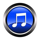 Music Button Stock Image
