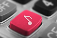 Music button Stock Photos
