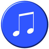 Music Button Stock Photo