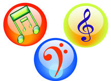 Music Button Royalty Free Stock Photography