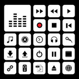 Music button icon set. Music button  icon set for media Stock Image