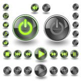 Music buttons Royalty Free Stock Image