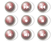 Music buttons Stock Photography