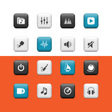Music Buttons Stock Images