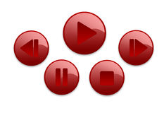 Music buttons. 3D music buttons for web design Royalty Free Stock Photo