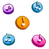 Music Buttons. 3D music selection button Royalty Free Stock Photo