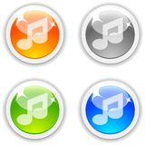 Music buttons. Music realistic buttons. Vector illustration Royalty Free Stock Image