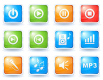 Music buttons collection Royalty Free Stock Photo