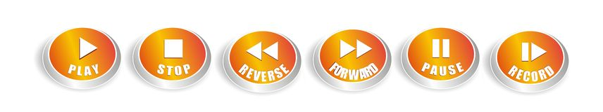 Music buttons package Royalty Free Stock Images
