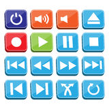 Music Buttons Set Royalty Free Stock Images