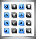 Music buttons Stock Photos