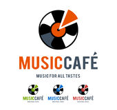 Music Cafe Logo Stock Image