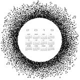 A 2019 music calendar with a circle of musical notes Royalty Free Stock Photography