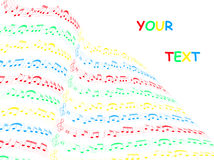 Music card. Illustration of music card, colors Royalty Free Stock Photography