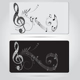 Music cards templates Royalty Free Stock Photography