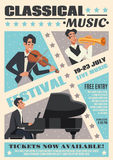 Music Cartoon Poster Royalty Free Stock Photos