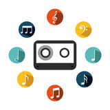 Music casette icon Stock Photography