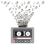 Music casette icon Royalty Free Stock Photography