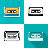 Music cassette tape icon Royalty Free Stock Photo