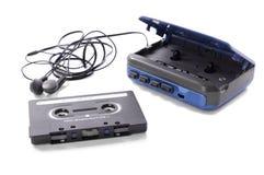 Music cassette and walkman royalty free stock photo