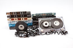 The music cassettes Royalty Free Stock Photo