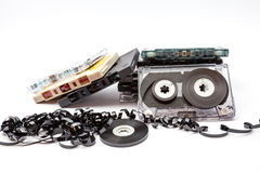 The music cassettes royalty free stock image