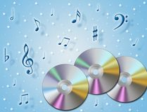 Music Cd. An illustration about music CD and melody in the air vector illustration