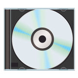 Music cd case black Royalty Free Stock Photography