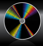 Music cd dvd. Rainbow. Royalty Free Stock Photography