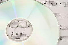Music CD and music sheet Royalty Free Stock Photos