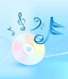 Music CD and notes Stock Photos