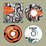 Music CDs Ethnic Art And Cover Stock Image
