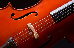 Music Cello in the dark Stock Images