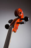 Music Cello in the dark Royalty Free Stock Photography