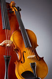 Music Cello in the dark Royalty Free Stock Image
