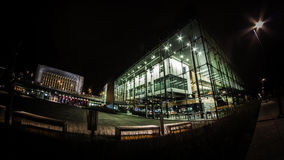 Music Centre and the Parlament of Finland at night Royalty Free Stock Images