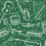 Music chalkboard Royalty Free Stock Photos