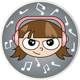 Music child. Royalty Free Stock Images