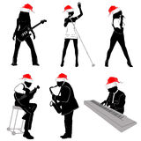 Music with christmas concept royalty free stock image