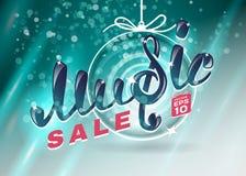 Music christmas sale Stock Image