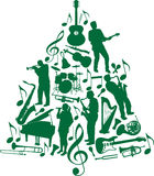 Music Christmas tree Royalty Free Stock Photos