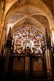 Music in church in Marseille. Marseille is the largest city in southern France, as well as the first port of France and the Mediterranean, and the fifth at the royalty free stock photos