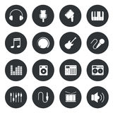 Music circle Icons. Stock Photos